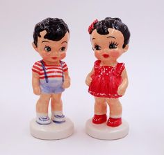 Sun Rubber Dolls Ceramic Replica Reproduction,Trendy Home Decor,Vintage-Style Dolls,Clay Art,Hand Painted Doll,Bobbsey Twins Cute Boy & Girl