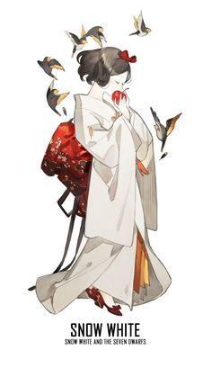 [ Disney Princesses X Kimono ] - Snow White  #Disney_Princesses