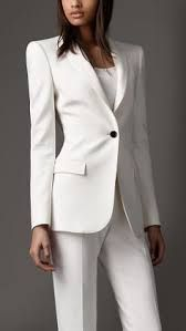 Image result for white suit women