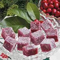 Cranberry gumdrops  Thanks Heather R. For the idea!!