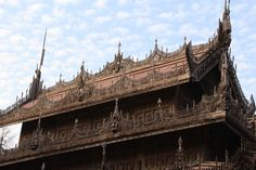 Mandalay ~ Golden Palace Monastery was part of the Royal Palace, but was moved in 1880 where it became a monastery