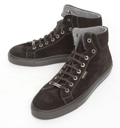 Paul & Shark Italy Brown Suede Hi-top Sneakers Shoes  |  Find yours! http://www.frieschskys.com/suits  |  #frieschskys #mensfashion #fashion #mensstyle #style #moda #menswear #dapper #stylish #MadeInItaly #Italy #couture #highfashion #designer #shopping