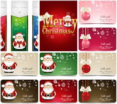 Christmas business cards 2014 vector