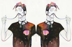 Silver Ridge Studio - Model ink twins Dali's roses