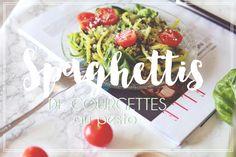 Spaghettis de courgettes au pesto - Le Petit Monde de Julie