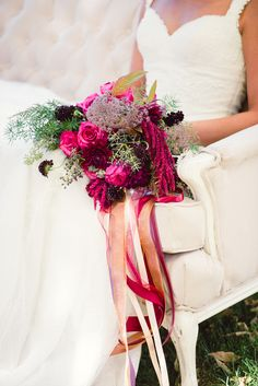Styled Shoot: Woodland Romance - Lori Kennedy Photography + Embellish Productions, florals by Lace and Lilies Simple Wedding Bouquets, Bride Bouquets, Bridesmaid Bouquet, Purple Wedding, Floral Wedding, Wedding Flowers, Outdoor Wedding Inspiration, Flower Arrangements, Marie