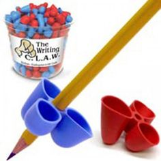 2 Pencil Grip Writing Claw Special Needs Autism Occupational Therapy OT ASD Aid Developmental Disabilities, Learning Disabilities, Kids Education, Special Education, Learning Activities, Kids Learning, Teaching Kids To Write, Pencil Grip, Kids Writing