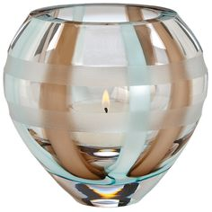 Waterford® Evolution by Waterford Espresso Swirl Votive #VonMaur