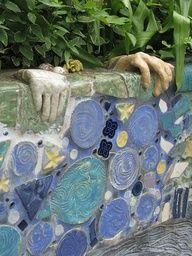 Penland NC mosaic wall.