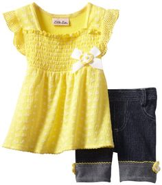 Save $20.48 on Little Lass Baby-Girls Infant 2 Piece Bike Short Set With Puff Print; only $11.52