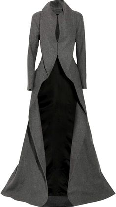 ALEXANDER MCQUEEN ENGLAND Draping Wool and Cashmere-blend Coat... LARGE PHOTO !