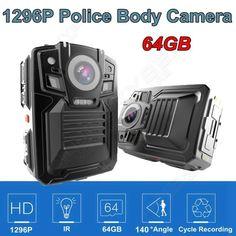 >> Click to Buy << Free shipping!64GB Ambarella A7L50 Super HD 1296P Police Body Worn Camera IR Light 8Hours 140 #Affiliate