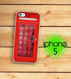 iPhone 5 / 5S Case UK Phone Booth Hard Case / Hard Case For iPhone 5 British Phone Box. Plastic or Rubber Trim....but first I need a new phone...
