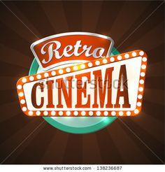 retro marquee signs | Cool retro cinema sign. EPS10 vector. Shutterstock Image - Cool retro ...