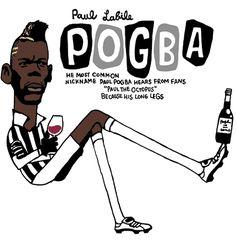 Paul Pogba(フランス代表)JUVENTUSユベントス/ポール・ポグバ似顔絵