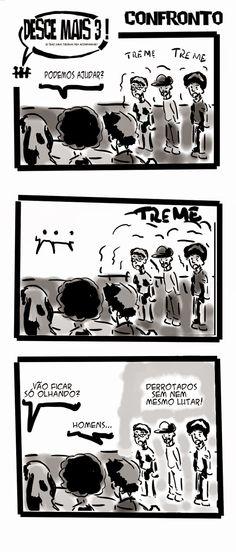RABISCOS ENQUADRADOS: DESCE MAIS 3! Nº 158: DISPUTANDO TERRITÓRIO