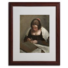 The Needlewoman 1640-50 by Diego Velazquez Matted Framed Painting Print