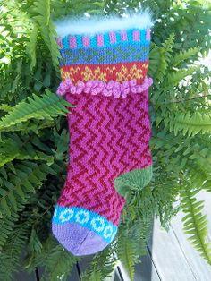 Ravelry: MarjiBeth's Christmas stocking for Aubrey using Free Pattern Cascade W104