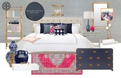 Contemporary, Glam, and Preppy Bedroom by Havenly