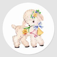 Lamb Chop Puppet, Lamb Drawing, Cartoon Lamb, Easter Bunny Cartoon, Easter Lamb, Baby Lamb, Vintage Drawing, Animal Sketches, Vintage Easter