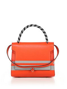 Anya Hindmarch Bathurst Striped Small Leather Top Handle Bag