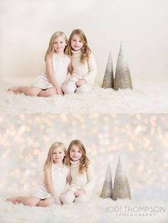 Christmas Lights Digital Photography Backdrop - MBP