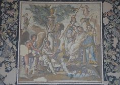 Mosaic of the Judgment of Paris, 115 - 150 AD, from Antioch on the Orontes (Antakya, Turkey), Louvre Museum   by Following Hadrian
