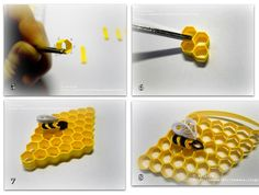 Bee hive tutorial - quilling - bjl