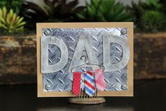 Show dad how much you care with a masculine, yet adorable DIY Father's Day card. Follow along for the step by step instructions!