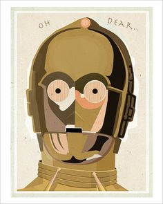 Star Wars c3po poster -  8x10 print - Star Wars character print Starwars poster. $12.75, via Etsy.