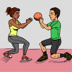 lunge medicine ball pass
