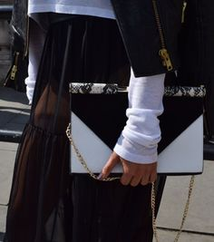 Monochrome was a big look at the September London Fashion Week #LFW   Mint Velvet