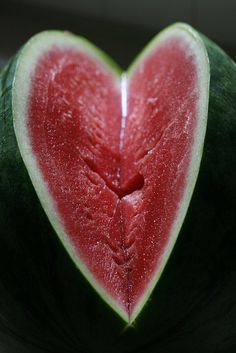 Finding #heart in nature. #watermelon #summer