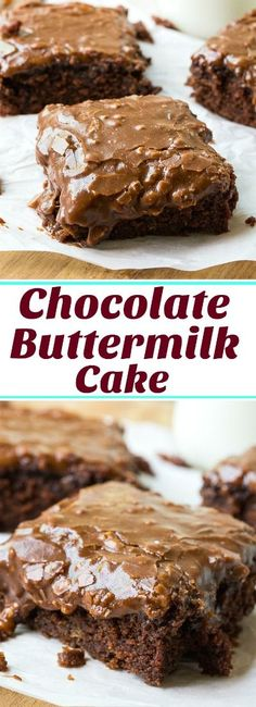 Chocolate Buttermilk Cake with chocolate buttermilk icing.