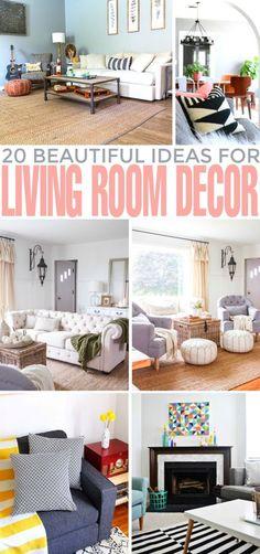 20 Beautiful Ideas For Living Room Decor