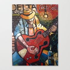 Delta Blues Stretched Canvas by Cliff Speaks - $85.00