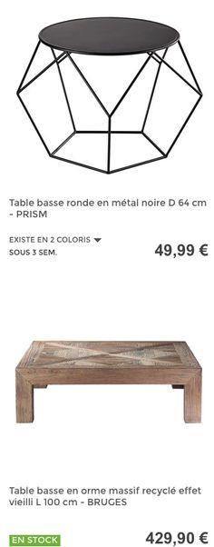 Tables basses #MaisonsDuMonde