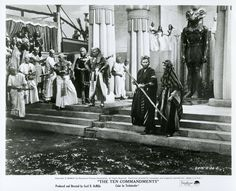 """Charlton Heston as Moses and Yul Brenner as Ramses in Cecil B DeMille's """"The Ten Commandments"""" (Paramount, 1956)."""