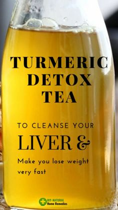 Powerful Turmeric Detox Tea To Cleanse Your Liver And Lose weight… Dr.Osman - Detox drinks to cleanse Fast Weight Loss Tips, Weight Loss Detox, Weight Loss Drinks, How To Lose Weight Fast, Losing Weight, Liver Detox Cleanse, Health Cleanse, Body Cleanse, Juice Cleanse