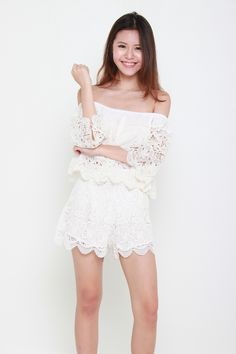 We are in love with this romantic and ethereal lace shorts. Available in White and Black Features Rayon Slip on styl White Lace Shorts, Slip On, Crop Tops, Black, Fashion, Moda, Black People, Fashion Styles, Fashion Illustrations