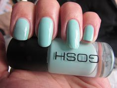 Gosh Cosmetics 597 Miss Minty Dry Nail Polish, Pastel Nail Polish, How To Do Nails, My Nails, Gosh Cosmetics, Latest Nail Designs, Dry Nails Fast, Nail Soak, Different Nail Designs