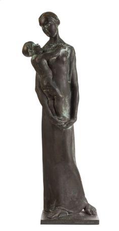 Podpěrová Bělská Františka (1898–1969) | Mother with Child | Aukce obrazů, starožitností | Aukční dům Sýpka Greek, Auction, Bronze, Statue, Children, Art, Toddlers, Craft Art, Boys