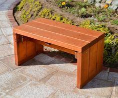 45 Best DIY Outdoor Bench Ideas for Seating in The Garden - HomeBestIdea Small Garden Bench, Garden Bench Plans, Outdoor Garden Bench, Outdoor Seating, Outdoor Loveseat, Small Bench, Outdoor Spaces, Outdoor Gardens, Outdoor Living