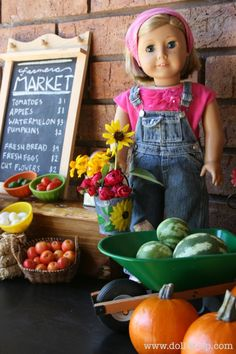 "DIY 18"" AG Doll Farmers Market Craft Idea"