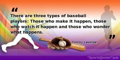 🏈🏀🥎⚾⚽🏉🎾 Please follow us for daily Motivational, Inspirational and positive sports quotes said by the popular athletes Baseball Motivational Quotes, Bob Feller, Cy Young, Babe Ruth, Self Discipline, New Opportunities, Baseball Players, News Games, Believe In You