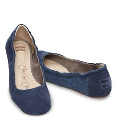 Loving this Blue Snake Classic Suede Ballet Flat on #zulily! #zulilyfinds