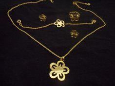 Fashion Flower Jewelry Gold Filled Sets VS2 by PiettroJewelry, $50.00