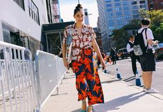 Tracy Georgiou in a vintage top, Dries Van Noten pants, and J.Crew shoes