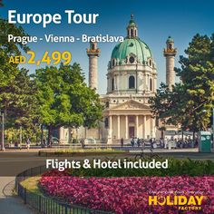 #Crazy_Deal of this #Week!! #Europe #Tour - #Prague, #Vienna & #Bratislava  for 2,499 AED only! Including Flight, Hotel Stay and Inter-European Transportation.  Deal starts on #Thursday at 12 PM For more visit: http://bit.ly/1OBTfjd #Travel #Explore #Discover #Holiday #Vacation #Tourism #Trip #Fun #Adventure #Family #Friends