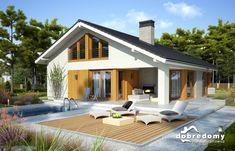 Miriam V - Dobre Domy Flak & Abramowicz Chula, My Dream Home, Future House, House Plans, Backyard, Construction, Outdoor Structures, House Design, Outdoor Decor
